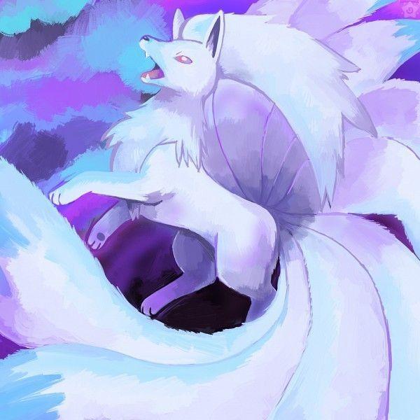 Un renard bleu